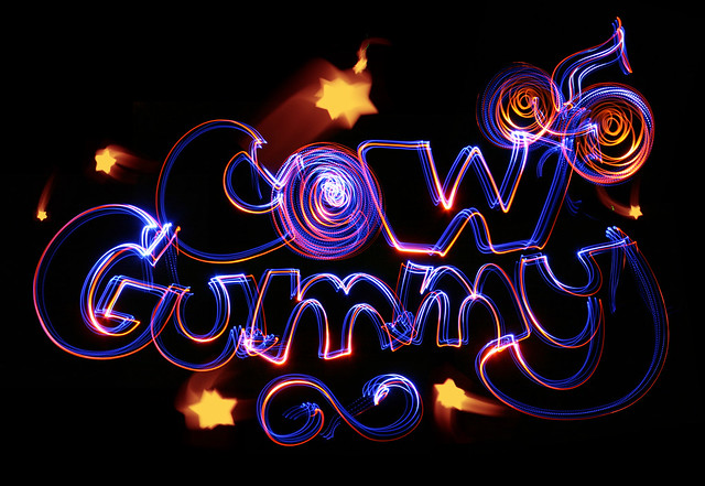 CowGummy logo lightpaint