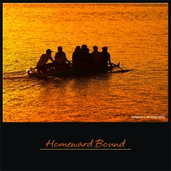 Homeward Bound (wingmarc) Tags: sunset silhouette boat sony cebu outrigger consolacion alpha380 flickraward5 cansagabay