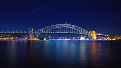 SYDNEY HARBOUR LIGHT TRAILS,  02.06.2015 (16th man) Tags: sydney australia circularquay nsw lighttrails operahouse sydneyharbour sydneyoperahouse sydneyharbourbridge vividsydney sydneyvivid
