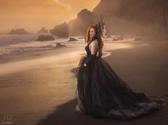 Twilight ({jessica drossin}) Tags: ocean light sunset sea orange woman beach lady gold sand rocks natural shore rays jessicadrossin wwwjessicadrossincom jdbeautifulworldcollection