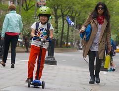 newyork smile sunglasses smiling manhattan helmet balloon mother son scooter upperwestside verdisquare