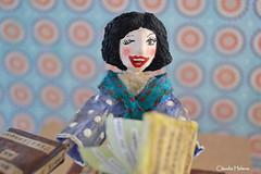 Psicóloga (* Cláudia Helena * brincadeira de papel *) Tags: brazil brasil book jung doll books boneca livros freud papermache lacan papiermachè psicóloga papelmachê cláudiahelena