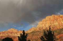 The Watchman Double Rainbow (I_am_michael) Tags: usa mountain utah rainbow ut explore zion doublerainbow watchman iammichael