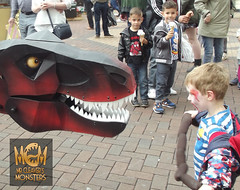 I WANT MORE SAUSAGES! (Mr Cleaver's Monsters) Tags: dinosaur mr puppet monsters trex doncaster cleaver tyrannosaur dnweekend