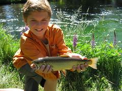 Proud fisherman (Jeff Goddard 32) Tags: oregon fishing flyfishing troutfishing brooktrout boysfishing upperdeschutesriver