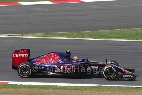 Carlos Sainz Jr in Free Practice 3 at the 2015 British Grand Prix