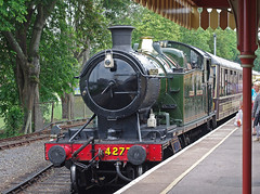 """IMGP9387.  GWR 2-8-0T 4277 on arrival at Paignton on the Paignton & Dartmouth Steam Railway. • <a style=""""font-size:0.8em;"""" href=""""http://www.flickr.com/photos/40052043@N03/19340576521/"""" target=""""_blank"""">View on Flickr</a>"""