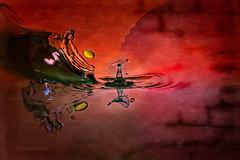 Fusion.. (juapero) Tags: macro art colors drops arte gotas collisions colisiones juapero