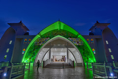 Malacca Straits Mosque | Scene 3 (Shamsul Hidayat Omar) Tags: blue tourism photography high interesting nikon scenery arch dynamic places scene mosque hour malaysia omar straits range hdr melaka masjid malacca islamic selat hidayat greatphotographers shamsul photoengine oloneo d800e
