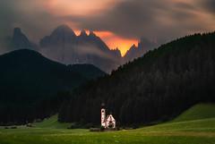 Mordor (albert dros) Tags: longexposure sunset italy contrast darkness maddalena magdalena dolomites mordor albertdros
