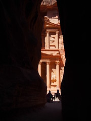 Magical Petra seen from our passage!