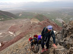 "Scrambling up to Petrovsky Peak • <a style=""font-size:0.8em;"" href=""http://www.flickr.com/photos/41849531@N04/20262892788/"" target=""_blank"">View on Flickr</a>"