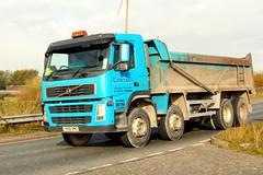 PD Tattersall Bulk Tipper YN06 BWO 25th October 2016 A614 Double Bridges (asdofdsa) Tags: hgv haulage transport trucks thorne eastcowick a614 volvo