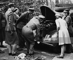 #King George VI, Queen Elizabeth and Princess Margaret visit Princess Elizabeth, who is training as an ATS mechanic at a training centre in southern England, April 1945. At this stage she is a Second Subaltern of the ATS. [594 X 486] #history #retro #vint (Histolines) Tags: histolines history timeline retro vinatage king george vi queen elizabeth princess margaret visit who is training an ats mechanic centre southern england april 1945 at this stage she second subaltern 594 x 486 vintage dh historyporn httpifttt2grym9t