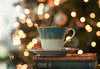 (donna leitch) Tags: lights bokeh christmas tree tea books vintage steam macro donnaleitch