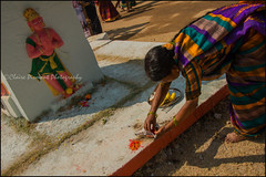 Divinity.  T Narsipura (Claire Pismont) Tags: asia asie inde india travel travelphotography tnarsipur tnarsipura mysore karnataka clairepismont colorful couleur color colour pismont offering puja hinduism hindouisme holy hindu