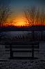 Sunset Over Lake Gibson (mpardo.photo) Tags: sunset bench winter snow lake ice darktable gimp pentaxart cc0