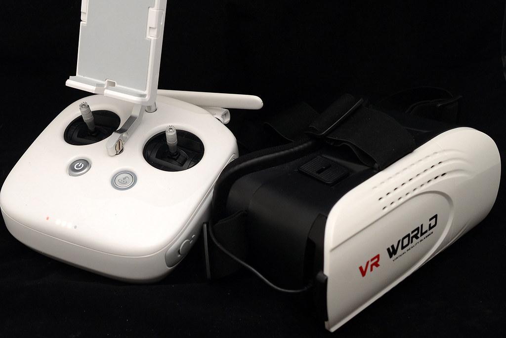 DJI Phantom 4 搭配 VR 眼鏡