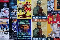 Bitcoin poster ads (Jon Southcoasting) Tags: streetart streetphotography bitcoin advertising posters
