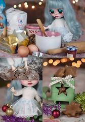 Merry Christmas! (theugliestwife) Tags: blythe blythedoll blythecustom custom ooak handmade doll artdoll art dollmakeup faceup repaint christmas gingerbread ginger bread cookie theugliestwife