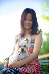 tan b & me (ceci cheung) Tags: yorkie yorkshireterrier tanji toronto me