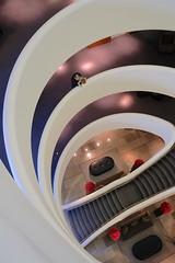 Taking a peek (The Green Album) Tags: aviator tag hotel farnborough airplane engine curves lines stairs lobby peeking edge man boy