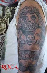Cultura Azteca (roca tattoo studio) Tags: precolombino prehispanico prehispanic maya mayan mexico mexica mixteca olmeca roca arte aztec azteca tatuaje tattoo body diseño dibujo deidad dios