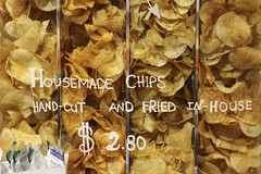 Housemade Chips (Read2me) Tags: she cye food many chips words letters handwritten sign yellow pregamechallengewinner ge thechallengefactory