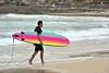 Rainbow on a cloudy day (jeremyhughes) Tags: australia bondi beach bondibeach nsw surf surfer surfing surfboard board rainbow sea ocean overcast cloudy weather nikon d750 300mm bokeh telephoto afsnikkor300mmf4difed