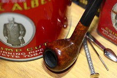 Pipe and tins (D. C. Wilson) Tags: tobacciana tobacco pipes briar clay smoke bertram americana collectibles antiques t6 bokeh