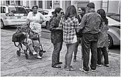 La Familia (The Family) (Samy Collazo) Tags: leica leicalllf1951 summitar5cmf201951 kodak kodaktrix400 kodakd76 sanjuan oldsanjuan viejosanjuan puertorico turistas tourists plazadearmas fotografiacallejera streetphotography bn bw lightroom aviary epsonperfectionv500scanner niksilverefexpro2