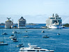 small, medium or large? (-gregg-) Tags: nassau bahamas cruise ships boats water sky
