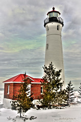 CrispPoint17.1 (mlopez7640) Tags: lighthouse crisppoint michigan lakesuperoir hdr winter upperpeninsula up crisppointlighthouse