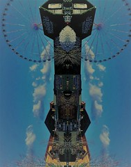 Upside Down And All Around, Tipsy Turvy Shot (~ Cindy~) Tags: sevierville tn ferriswheel shopssigns tipsyturvy