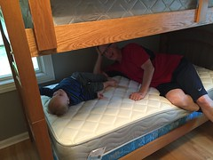 "Paul with Grandpa Miller on His New Bunk Bed • <a style=""font-size:0.8em;"" href=""http://www.flickr.com/photos/109120354@N07/17959846413/"" target=""_blank"">View on Flickr</a>"