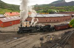 Durango Silverton narrow gage train, with roundhouse (_patclancy56) Tags: durangosilverton dsng