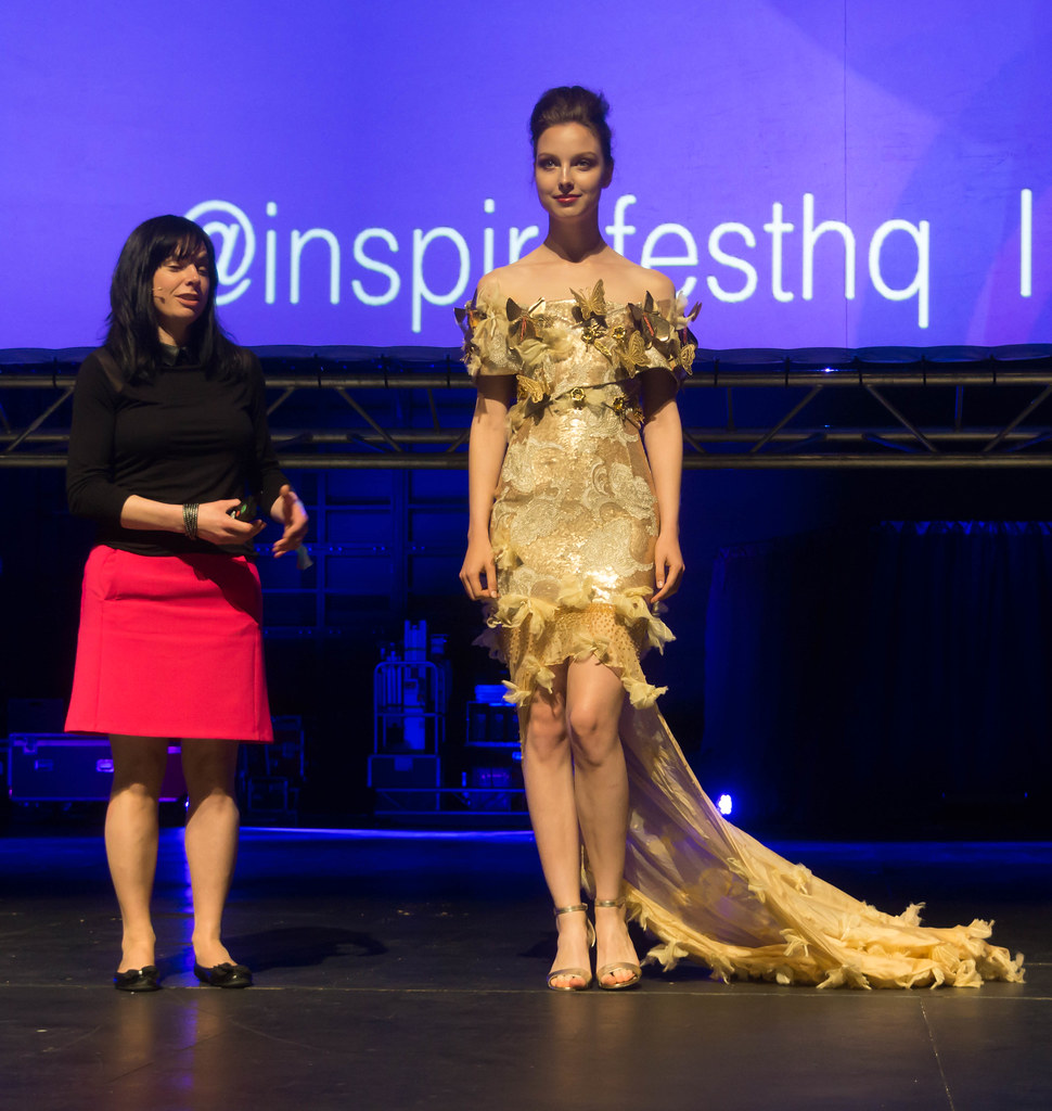 MARTINA LAWLOR PRESENTS THE INTERACTIVE BUTTERFLY DRESS [INSPIREFEST 2015]REF-105711