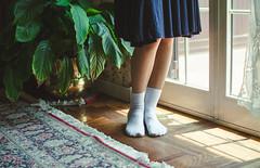 Loli (Silvia Piva) Tags: windows light house eye apple girl socks vintage book kiss sweet bored lolita