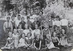 Norra ngby Folkskola, klass 3b, vrterminen 1938 (Olle Sundh) Tags: stockholm norra skola klass bromma svv skolfoto ngby folkskola skolbarn vultejusvgen