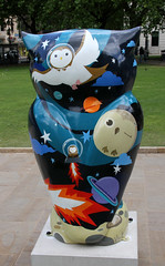 One Giant Hoot for Owlkind 2 (ahisgett) Tags: street charity sculpture art hospital big birmingham owl hoot 2015 childrens