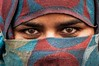 The eyes... (Syahrel Azha Hashim) Tags: street travel light vacation portrait people woman india holiday detail reflection 35mm prime eyes nikon colorful dof expression getaway hijab streetphotography naturallight headshot portraiture handheld shallow moment simple textured humaninterest headgear olddelhi traditionalclothing pc9 purdah jamimosque d300s syahrel