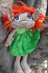Custom Groffle (Scribble Dolls) Tags: cute art toy happy ginger stuffed doll sweet handmade ooak critter plush softie stuffedanimal handpainted plushie troll handsewn artdoll cloth creature sewn scribbledolls
