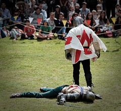 English Victory (Stuart Sowerby) Tags: knights swordfight arundel classicchrome