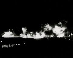 Historic Photo: Sutro Baths in Flames