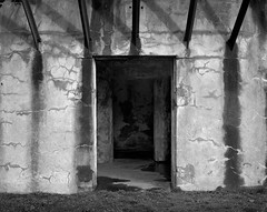 Battery, Fort Stevens, Oregon (austin granger) Tags: battery fortstevens oregon concrete fortification military time war bunker rust decay impermanence shelter geometry cracks weathered largeformat film chamonix