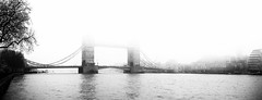 Tower Bridge - London In The Fog by Simon & His Camera (Simon & His Camera) Tags: bridge tower london fog mist weather river thames horizon blackandwhite bw building architecture winter city contrast iconic sky skyline landscape monochrome outdoor reflection simonandhiscamera urban water white