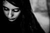 Gothique (PaxaMik) Tags: portrait portraitnoiretblanc noiretblanc noir n§b black gothique cils contraste visage face maquillage