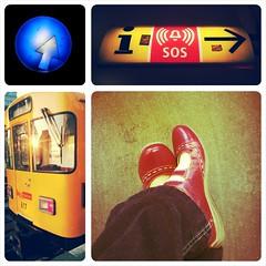 Berliner Untergrund (honiigsonne) Tags: berlin subway underground tube metro ubahn urban fahrt stadt hauptstadt shoe red rot schuhe
