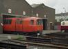 128, 122 Broomloan depot 27-6-97 (6089Gardener) Tags: glasgowsubway broomloandepot 128 122