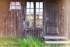 reflection at sunset | Latvia, Engure (natapritula) Tags: 2016 summer june latvia engure sunset old house window reflection